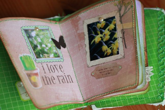 scrapbook made from a coffee cup