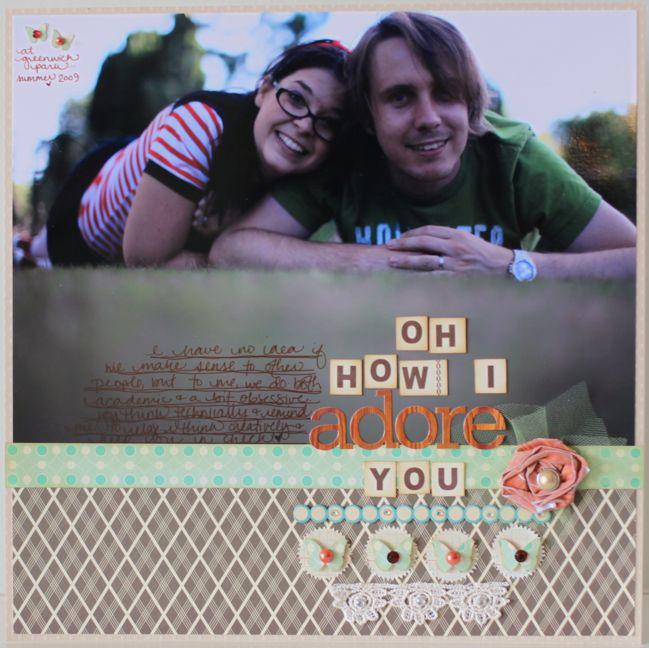 scrapbook page designs for larger photos by shimelle laine @ shimelle.com