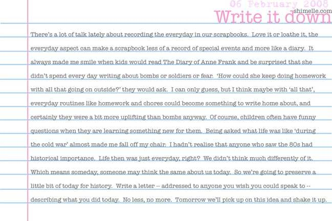 free write it down online journalling prompt