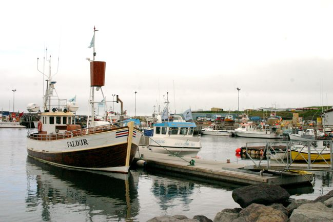 boats in husavik, iceland