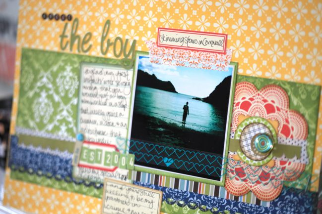 scrapbook page with Hipstamatic photo