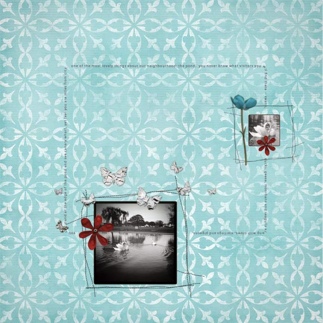 digital scrapbook page with Hipstamatic photos