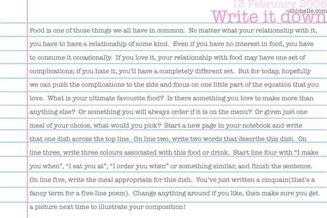 free write it down online journalling prompt