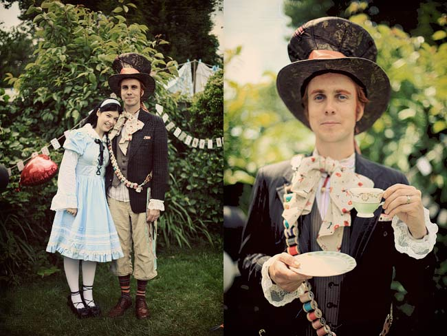 Shimelle + The Boy as Alice and the Mad Hatter