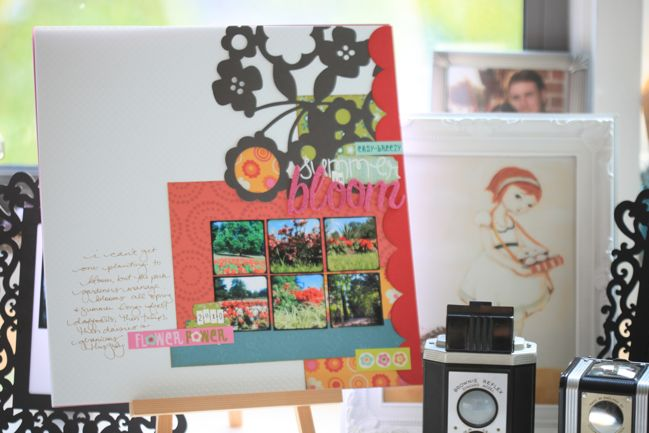 scrapbook pages with TTV photos