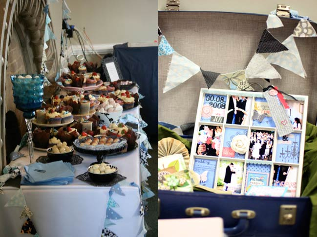 wedding bunting and craft display