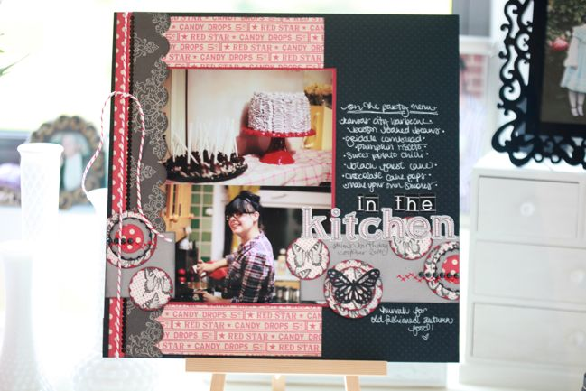 scrapbook page with Jenni Bowlin Studio supplies