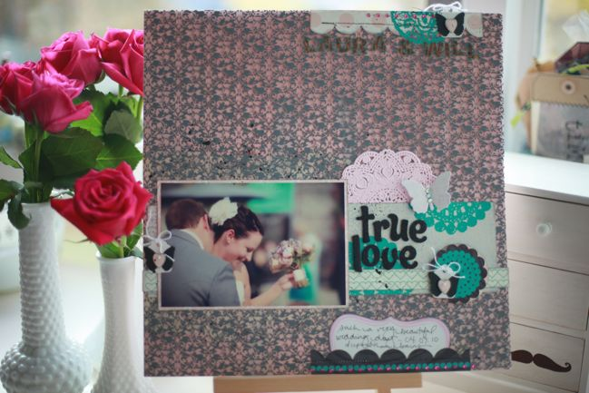 scrapbook page with Hambly Screenprints