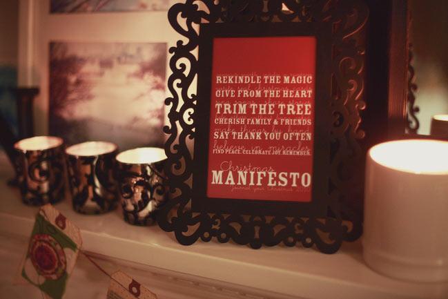 Christmas Manifesto Printable