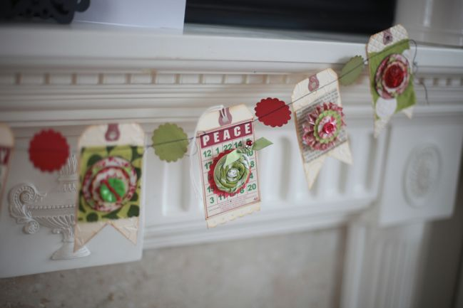 christmas tag garland