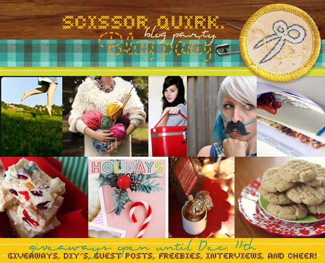 Scissor Quirk Blog party + giveaways
