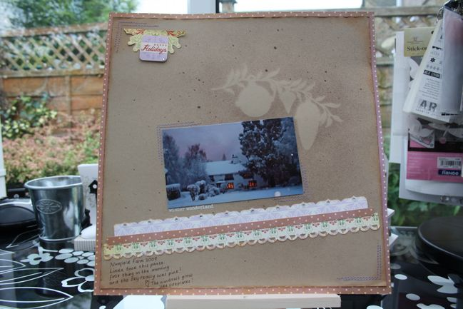 scrapbook pages with tattered angels glimmer mists