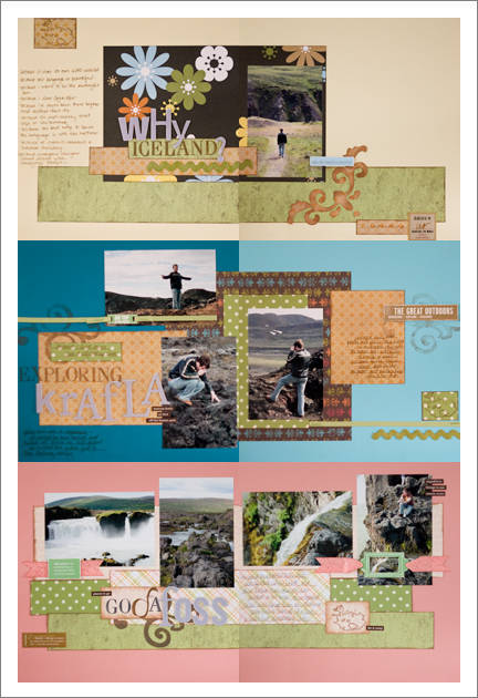 traveling to iceland scrapbook layouts