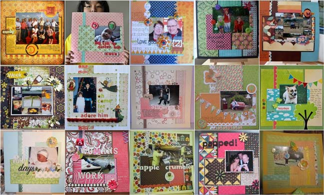 scrapbook page ideas from sketch 1