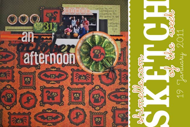 scrapbook sketch and scrapbook page ideas