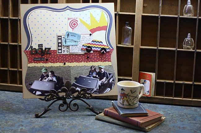 scrapbook page ideas with diecut papers