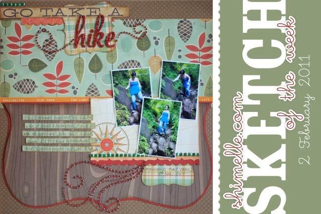 scrapbook sketch and scrapbook page ideas