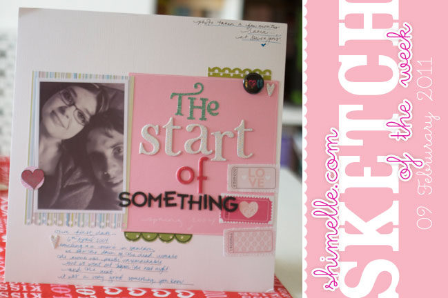 scrapbooking sketch of the week