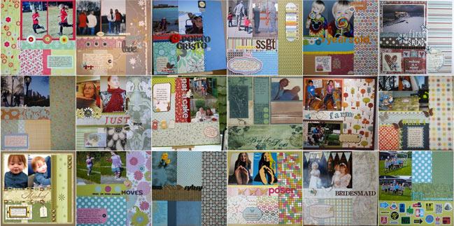 scrapbook page ideas from last week's scrapbooking sketch