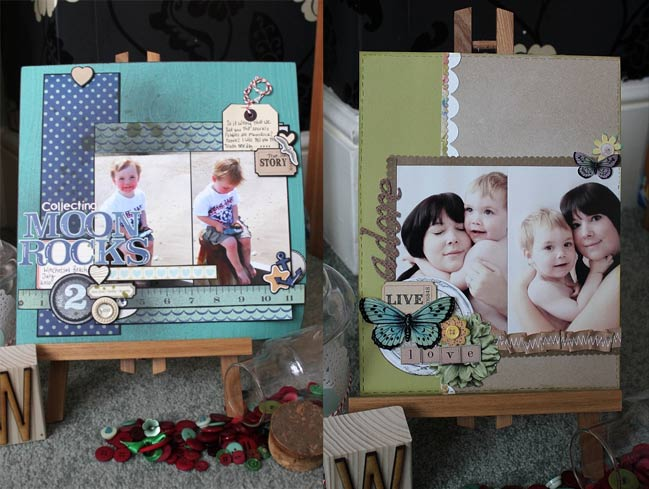 scrapbook page ideas - pages by SJ Dowsett
