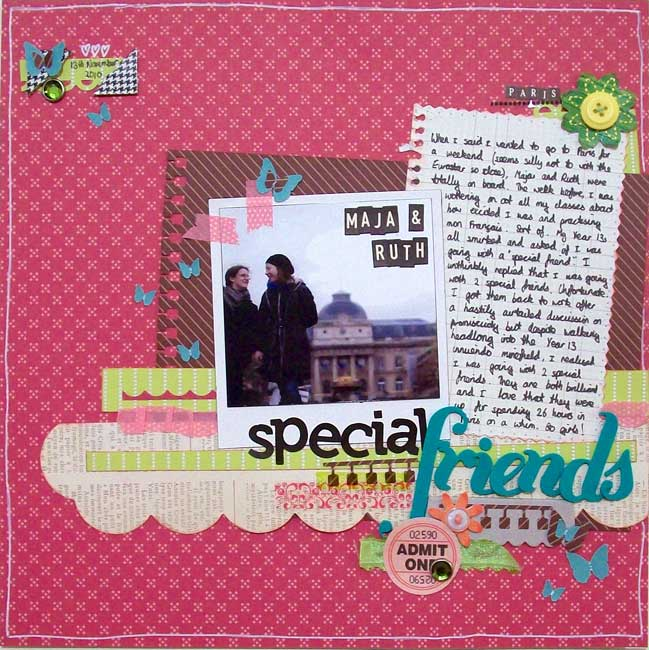 scrapbooking with polaroids