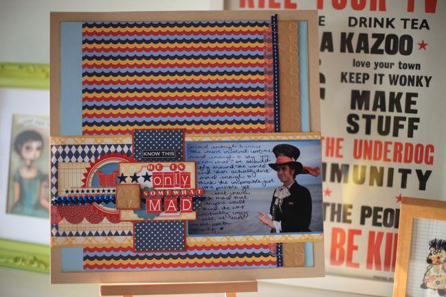 mad hatter scrapbook page by shimelle laine @ shimelle.com