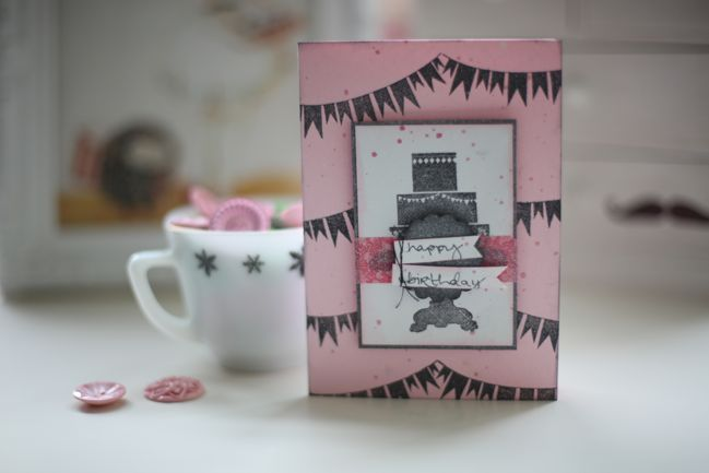 handmade birthday card with bunting