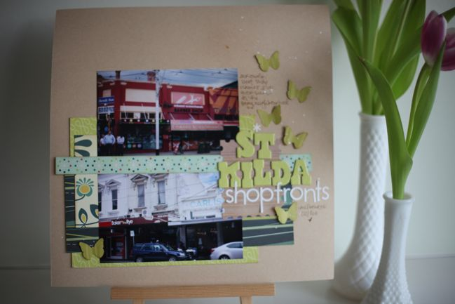 scrapbook page :: border between photos
