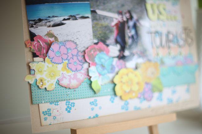 scrapbook page with sassafras foldies