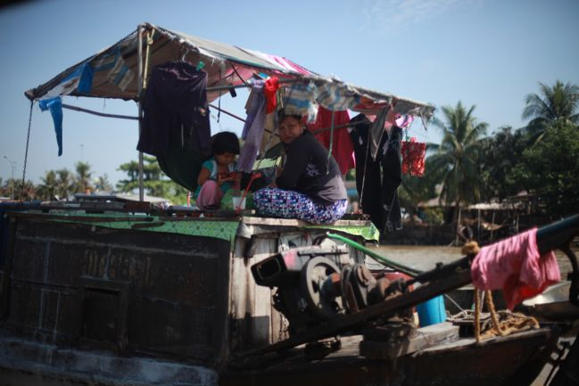 market boat on the mekong