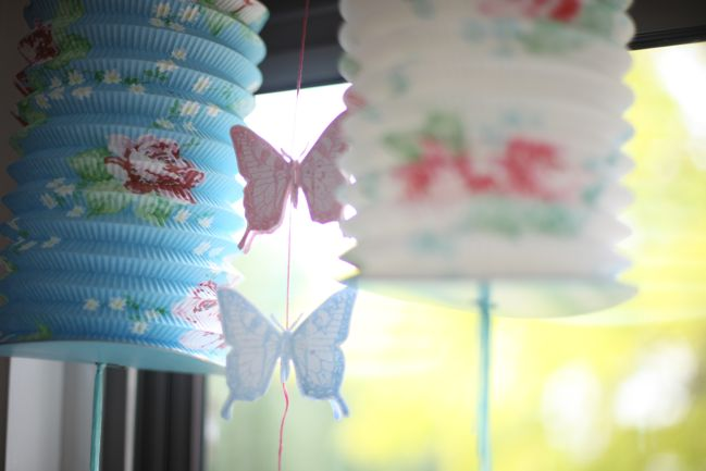 stamped butterfly garland