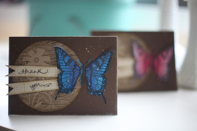 stamped butterfly cards