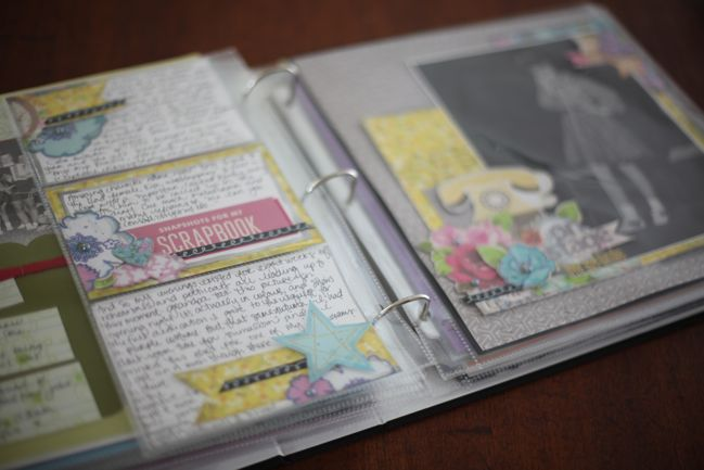 scrapbook pages in album