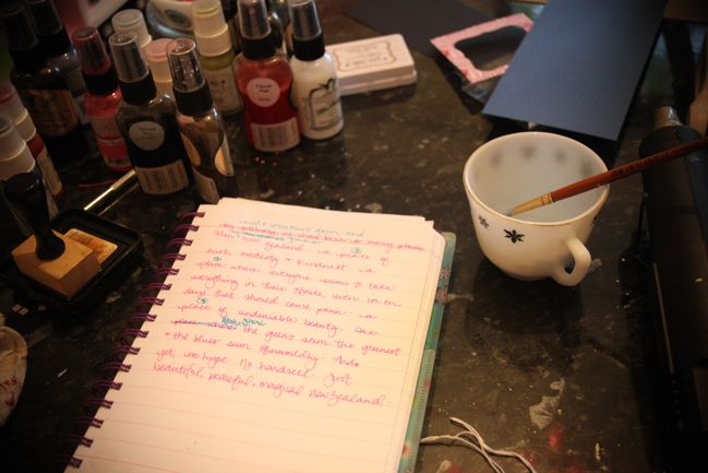 notes on my scrapbook writing process @ shimelle.com