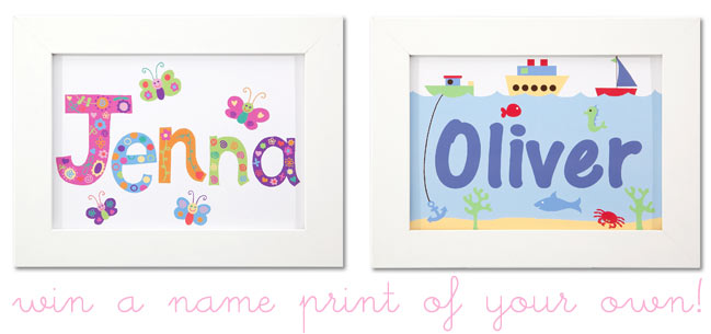scrapbooking giveaway :: name prints from clarkie designs