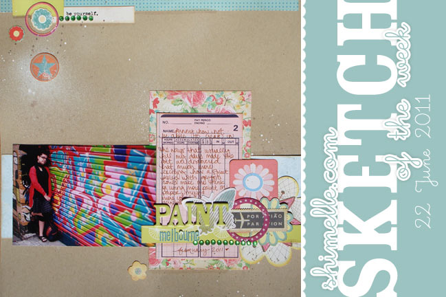 scrapbooking sketch and page ideas