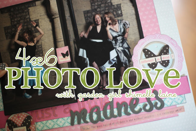 free online scrapbooking class :: 4x6 Photo Love