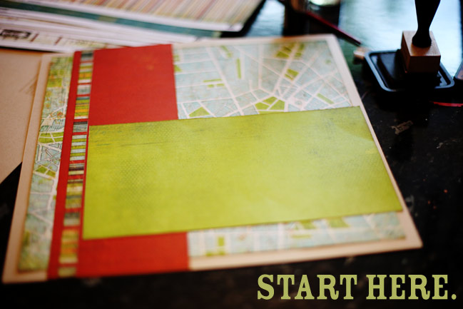 scrapbooking challenge - starting point