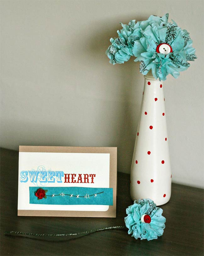 handmade cards and paper flowers