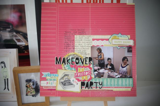 scrapbook page with cosmo cricket upcycle