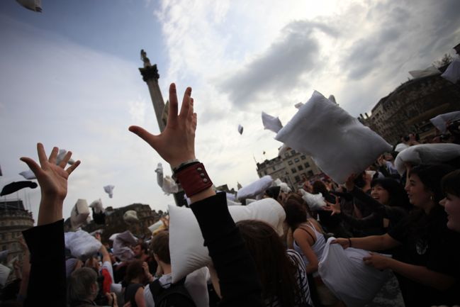 london pillow fight