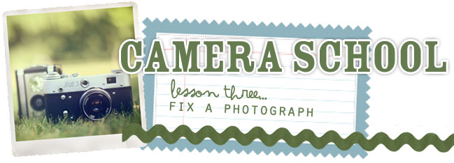camera school :: fix a photograph