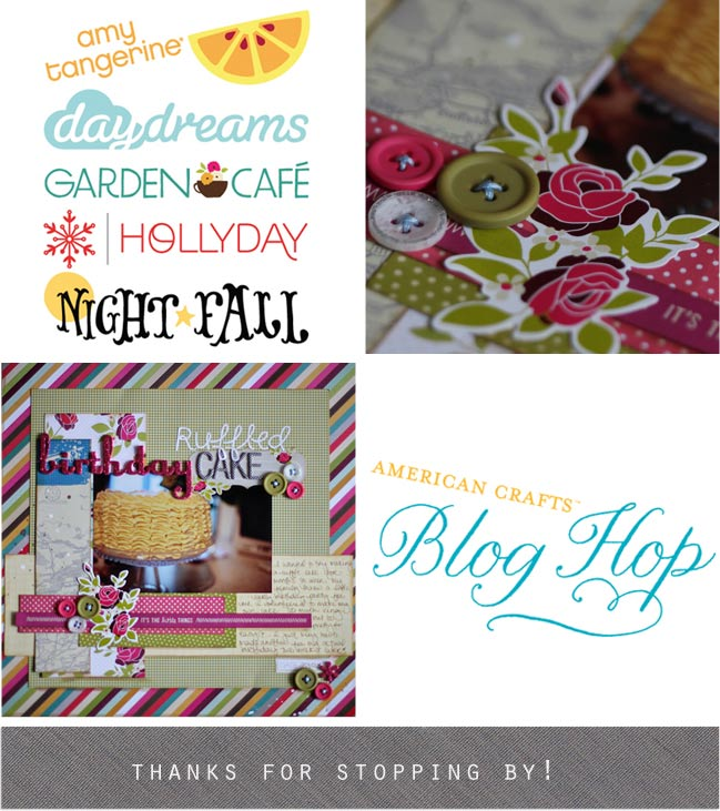 american crafts scrapbooking blog hop