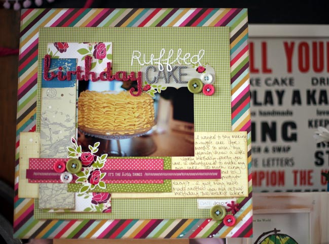 scrapbook page - american crafts