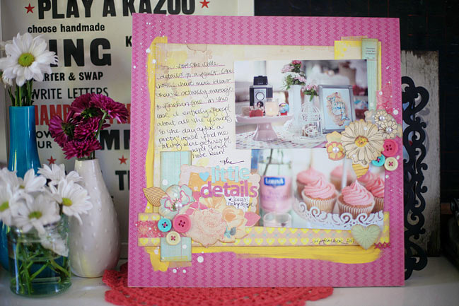 baby shower scrapbook page