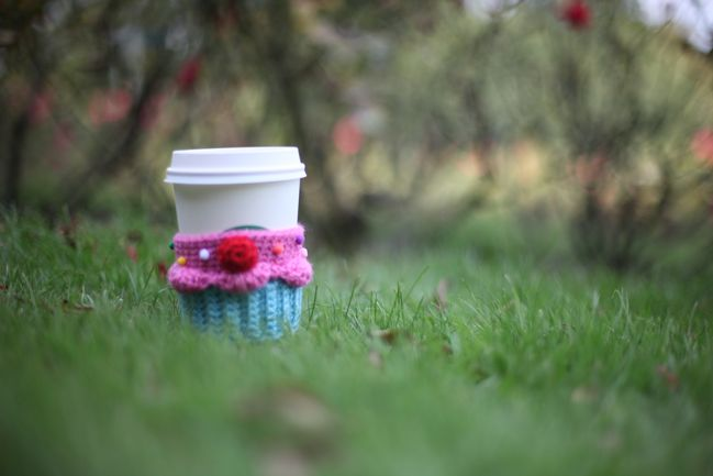 coffee cup in the grass