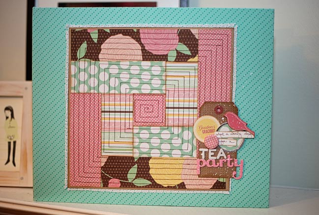 Paper Scrapbook Cover Log Cabin Quilt From Fabric Paper Pretty