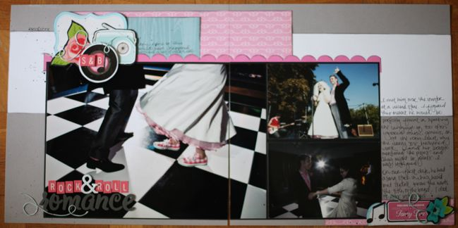 weekly challenge: include a flower motif // double page scrapbook layout by shimelle laine
