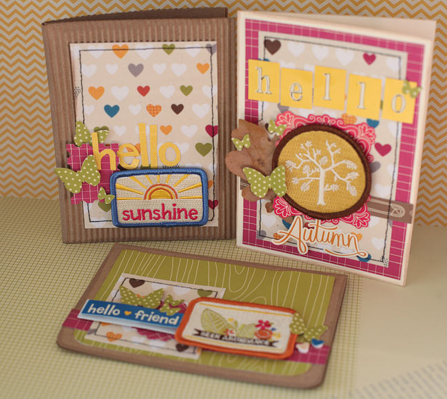 handmade cards with patches