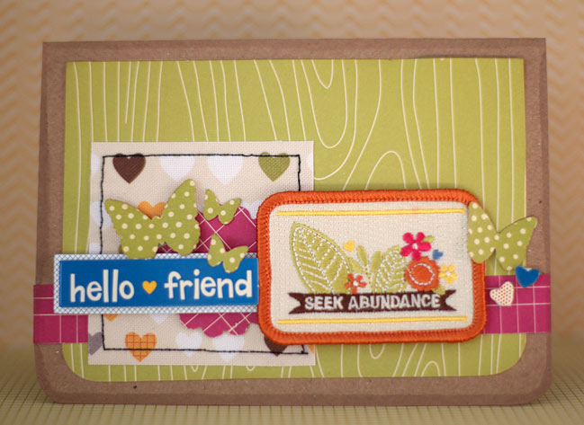 handmade card with patchems by american crafts & amy tangerine